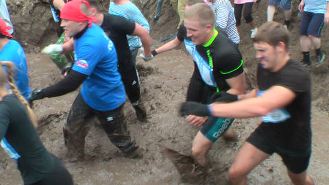 Dirty cross-country race stage. Tyumen. Russia Footage