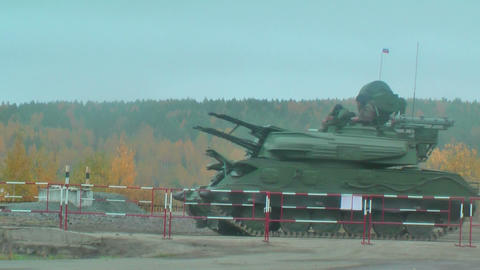 Antiaircraft gun missile system ZSU-23-4M4 Shilka-M4 Footage