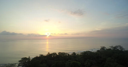 View of sunset on Puerto Jiménez Beaches In Costa Rica Footage