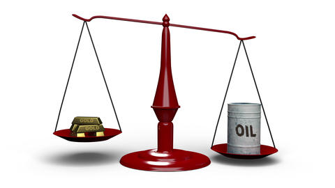 Oil Price Gold Animation