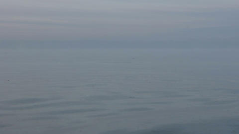 Cold steaming sea in frosty day Footage
