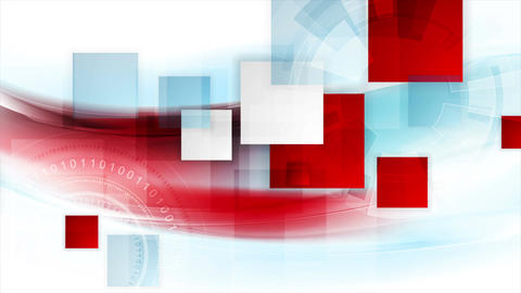 Technology geometric abstract motion background Animation