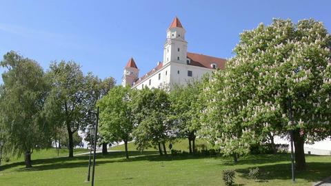 the castle of Bratislava Footage