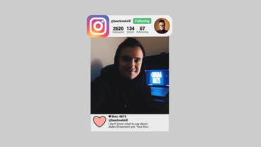 Instagram Flat Promo After Effects Project