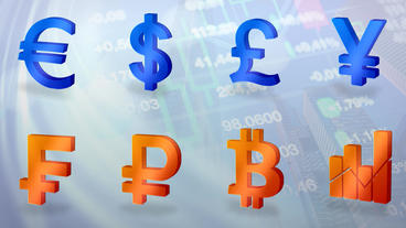Currency signs icons AE project After Effects Templates