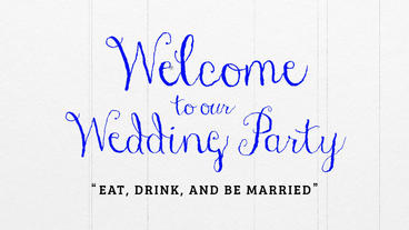 Summer Wedding Welcome Movie / 3 Color Pac After Effects Template