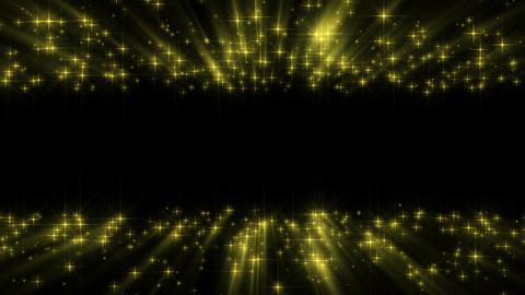 Gold shining stars Animation