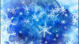 Blue snowflakes Animation