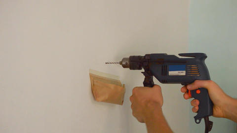 Drilling a Hole in The Wall Footage