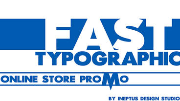 4k Fast typographic store promo Apple Motionテンプレート