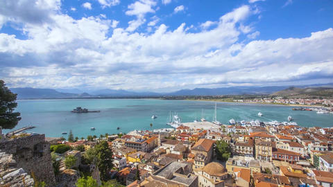 Greek city Nafplio timelapse Archivo