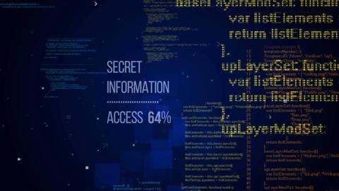 Secret information concept and random program code Animation