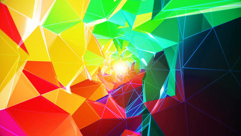 Colorful Polygonal Tunnel VJ Loop Animation