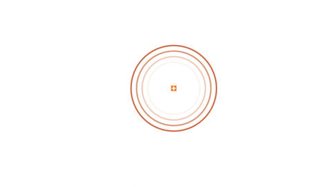 Target search interface on white background. Motion graphics background Animation