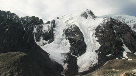High Mountains Covered With Glaciers Footage
