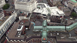 Great Britain England Liverpool 024 Clayton Square center seen from above Footage