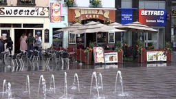 Great Britain England Liverpool 027 bars and fountains on Williamson Square Footage