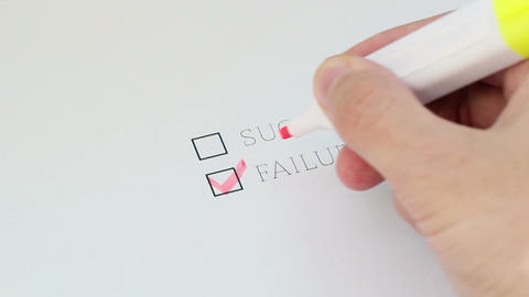 Checklist Success Failure 2 Footage