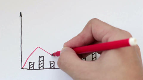 Drawing A Business Charts Footage