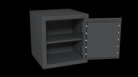 Animated Safe with Alpha CG動画素材