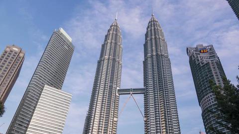 Kuala Lumpur Malaysia Petronas Towers Time Lapse 4k Animation