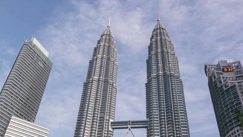Kuala Lumpur Malaysia Petronas Towers Time Lapse Zoom Out 4k Animation
