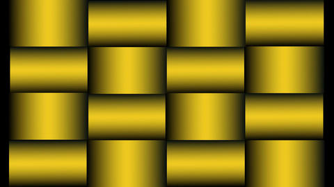 Luxury animated background composed of golden rectangles with three dimensional  Animation