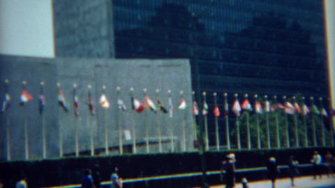 1968: United Nations international organization headquarters building Live Action