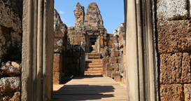 Pre Rup Cambodia Angkor Wat temple ancient ruin buildings complex Footage