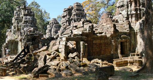 Cambodia Angkor Wat temple ancient ruin complex Ta Som 圖片