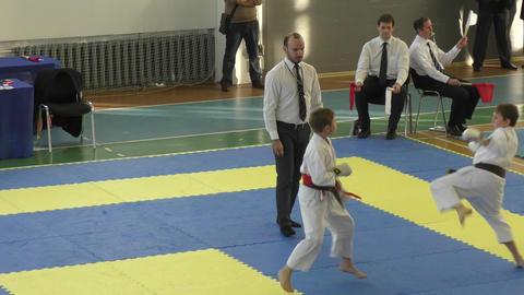 Children compete in karate Live Action