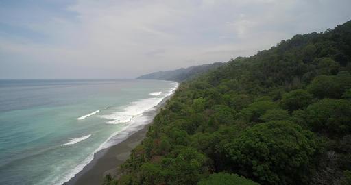 Aerial view Of Puerto Jiménez Coastline In Costa Rica Footage