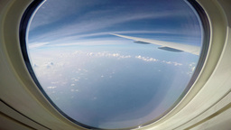 Magnificent View From The Window Of An Airliner stock footage