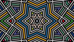 Kaleidoscope Motion Graphics VJ Loop stock footage