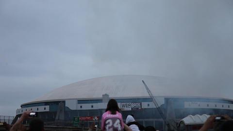 Texas Stadium Implosion Live Action