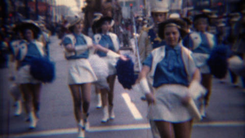 1967: Marian College drum bugle corps marching band parade Live Action