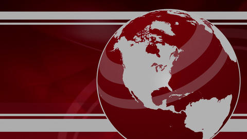 Breaking News Globe Backdrop Animation