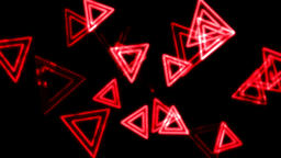 Red Glowing Triangles Animation Background Backdrop Animation