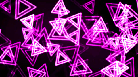 Purple Glowing Triangles Animation Background Backdrop Animation