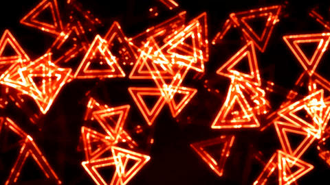 Orange Glowing Triangles Animation Background Backdrop Animation