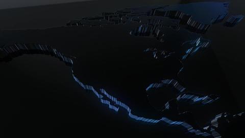 News Backdrop 3D World Map Animation