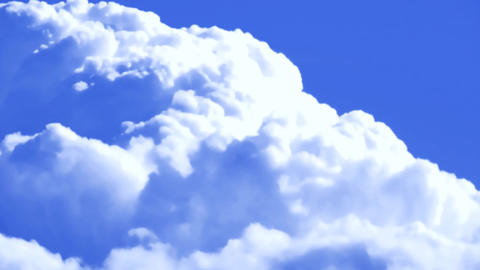 Fluffy Clouds Cloudscape Close-up TimeLapse Background Backdrop Footage