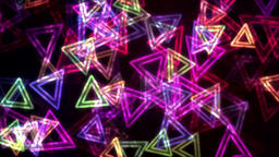 Colorful Glowing Triangles with Neon Effect Animation Background Backdrop Animación