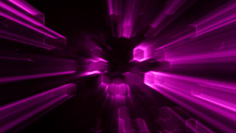 Purple Abstract Hexagons Animation with Neon Effect and Light Rays Background Ba Animation