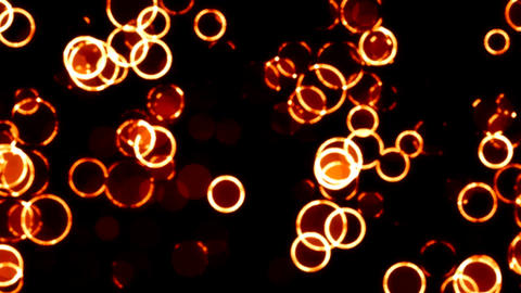 Glowing Orange Circles with Neon Effect Abstract Background Backdrop Animation
