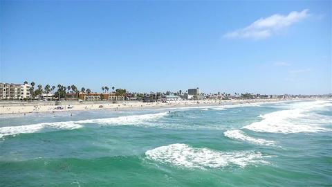 Ocean view in San Diego-California Footage