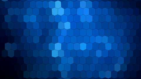 Blue Abstract Hexagons with Light Rays Animation Background Animation