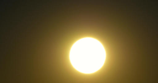 Closeup Of Solar Sun Disc At Sunset Image