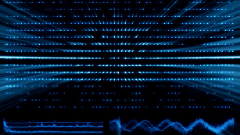 Tron Blue Artificial Intelligence AI with WaveForms and Light Rays Background An Animation