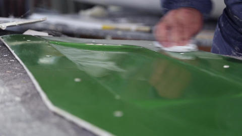 Construction of plastic boats Footage